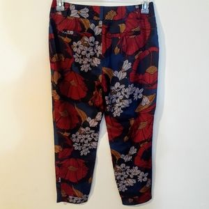Ann Taylor Loft cropped floral pants with cuff R4